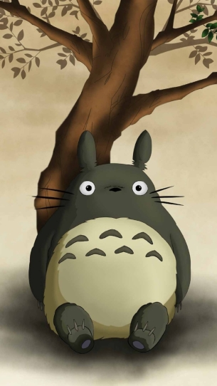 彩绘可爱胖胖的呆萌的龙猫动画图片 深爱而不得
