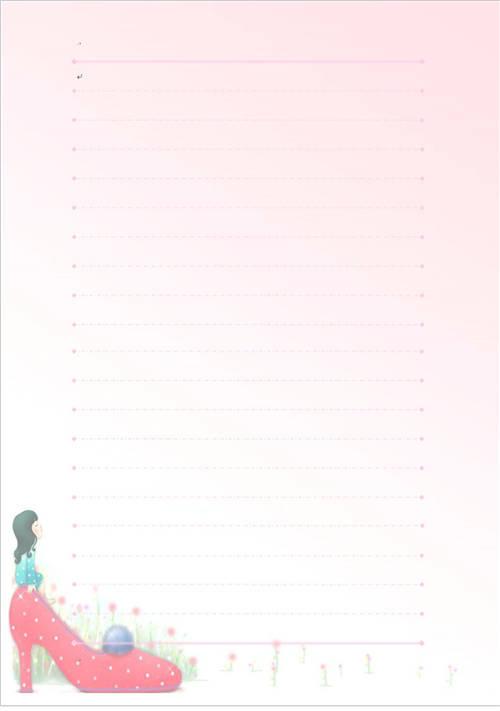 粉色小清新好看的信纸图片素材