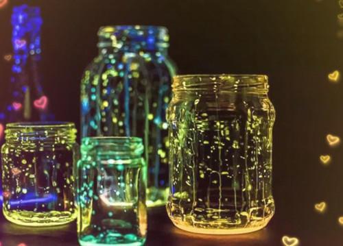 唯美梦幻意境的荧光瓶子图片大全
